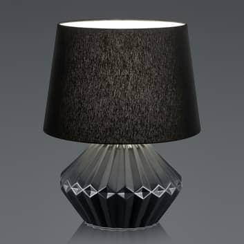 B-Leuchten Kara bordslampa, textilskärm 46 cm