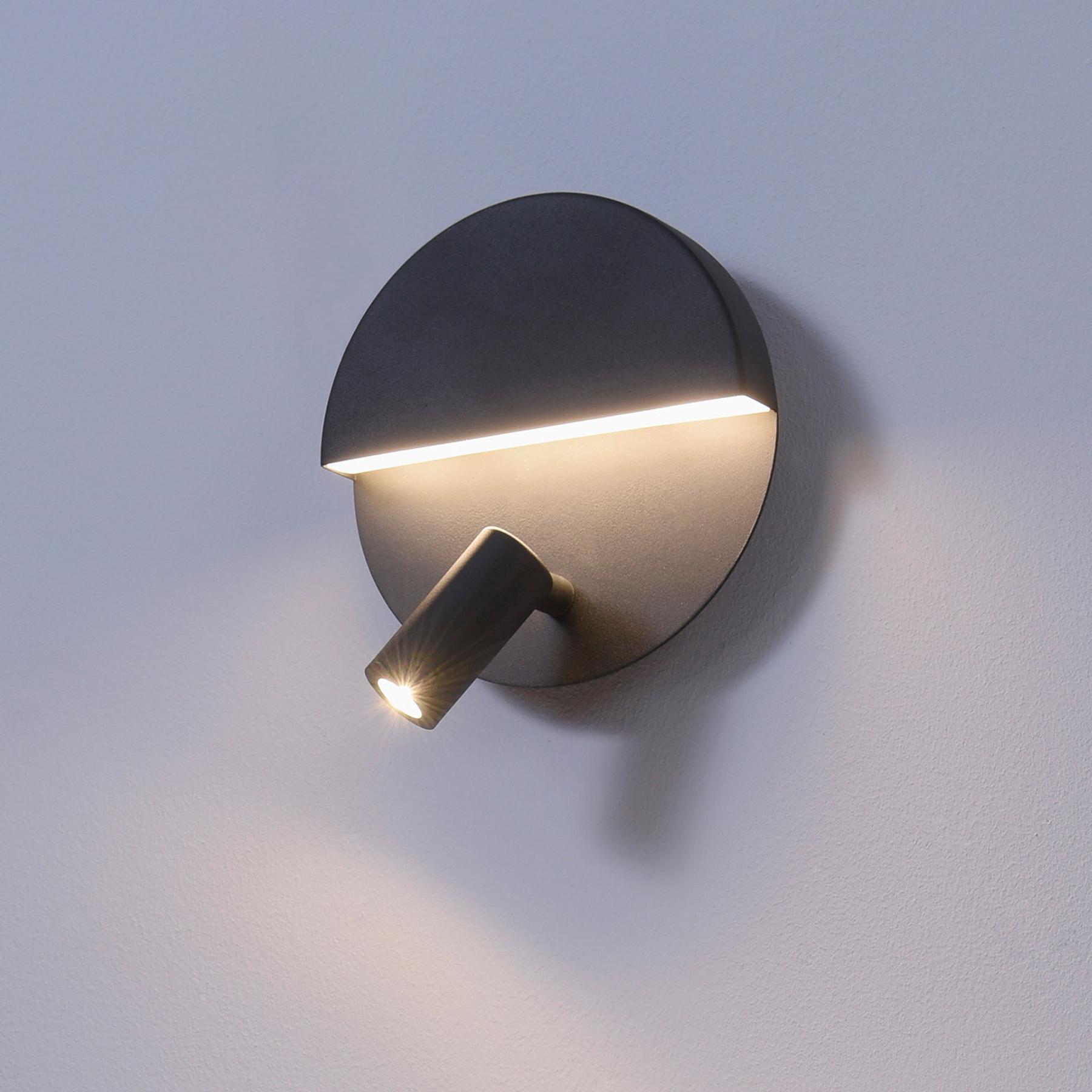 LED wandlamp Mario met zwenkbare spot