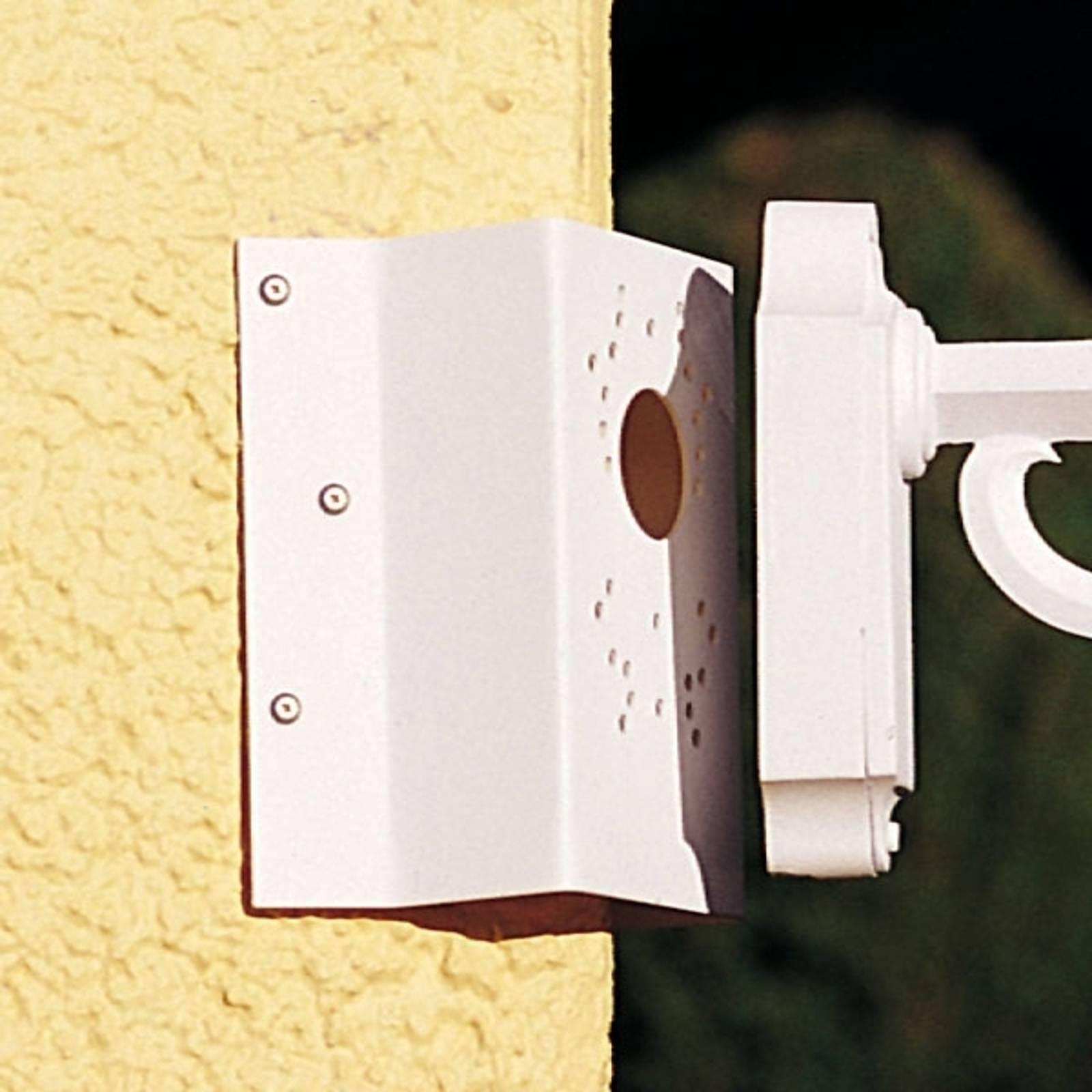 Hoekbevestiging voor wandlampen, wit