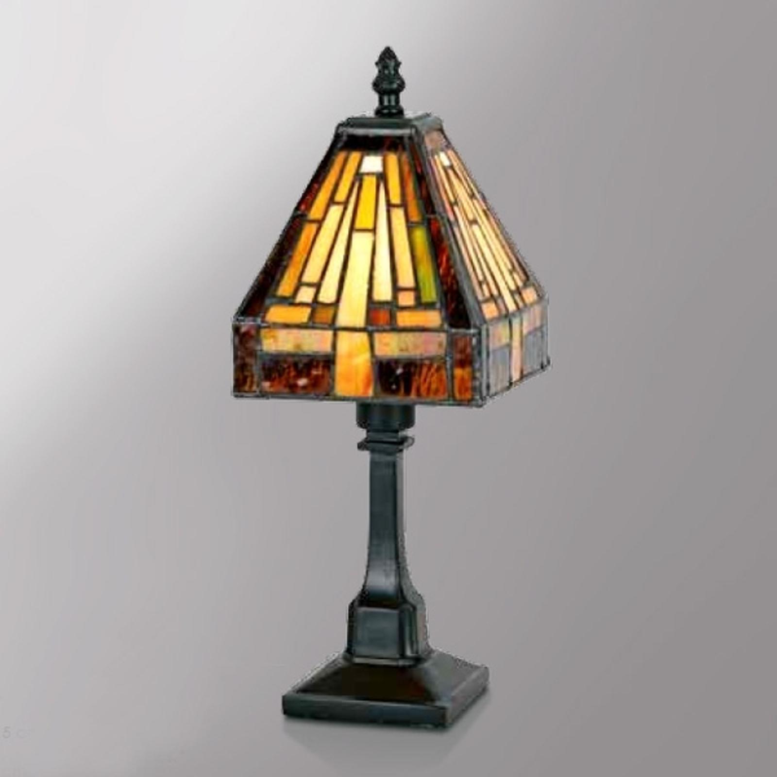 Lampada da tavolo Bea poliedrica in stile Tiffany