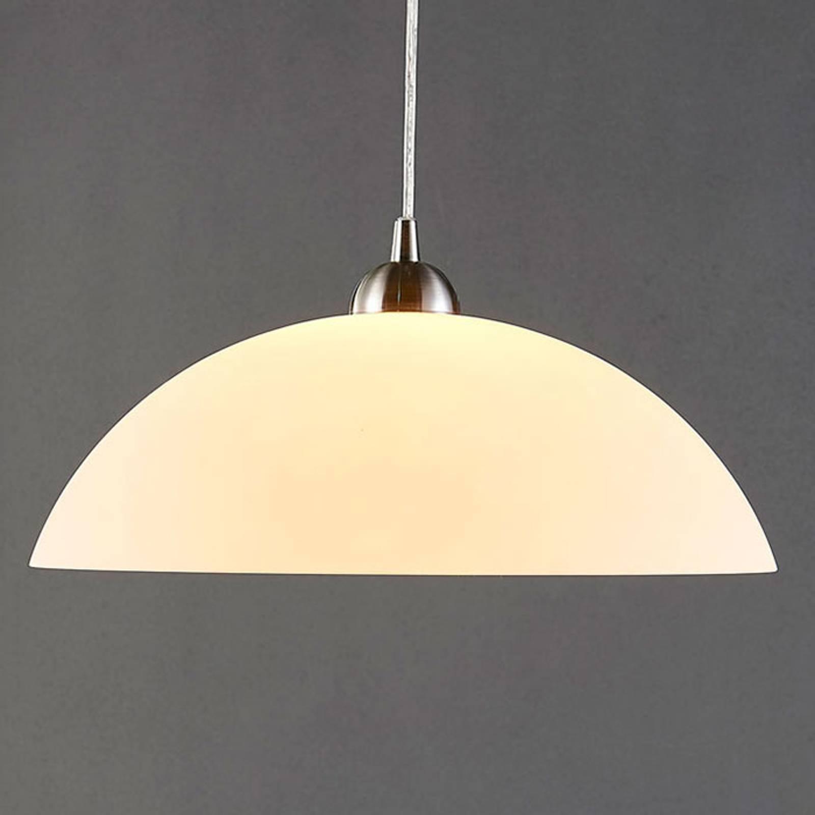 Okrągła, szklana lampa wisząca Valeria do kuchni