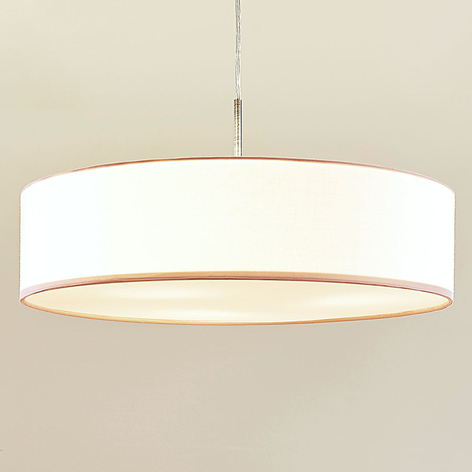 Suspension LED Sebatin en tissu blanc