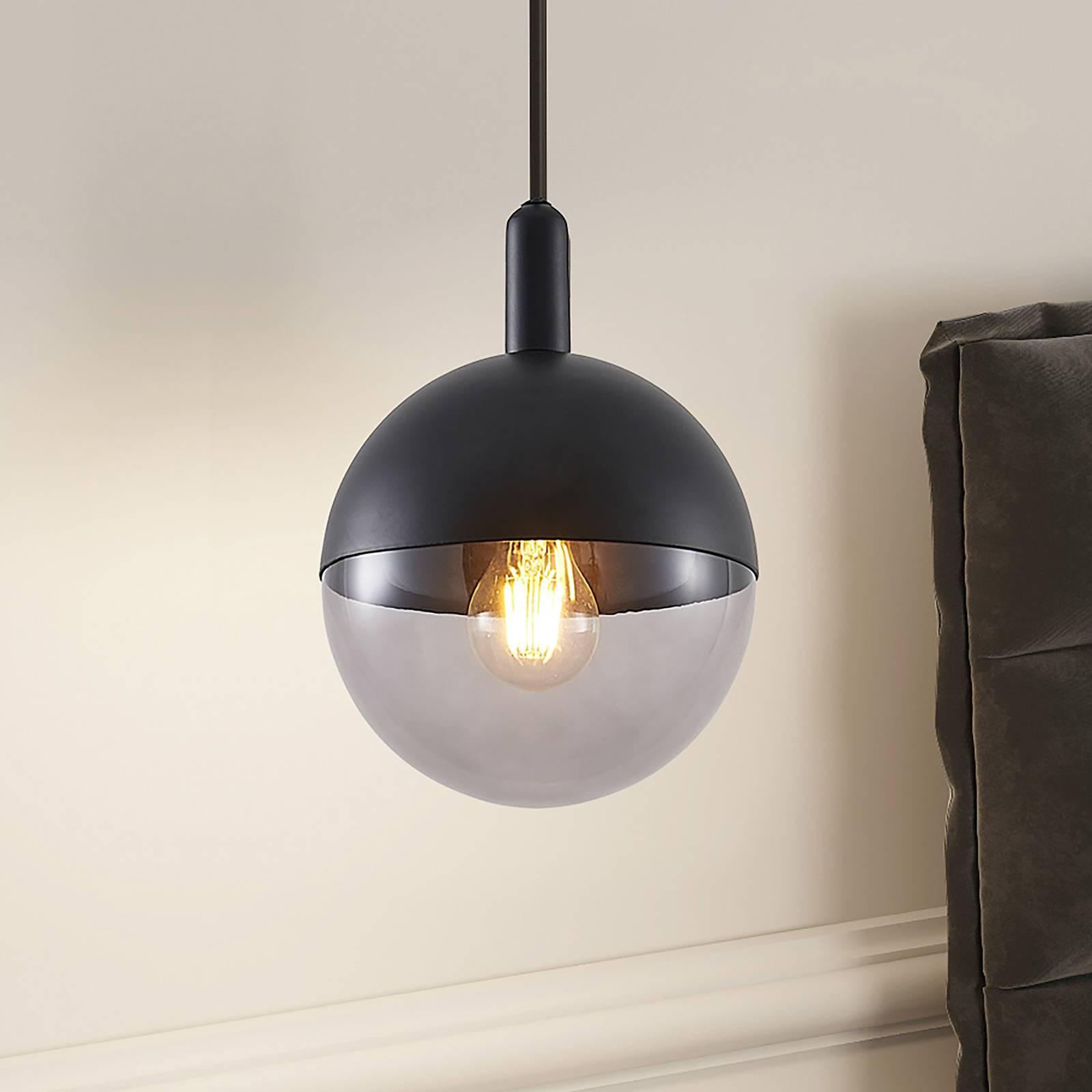 Lucande Dustian lampa wisząca, szklana kula