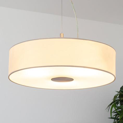 Závěsná lampa Josia, textilní, bílá