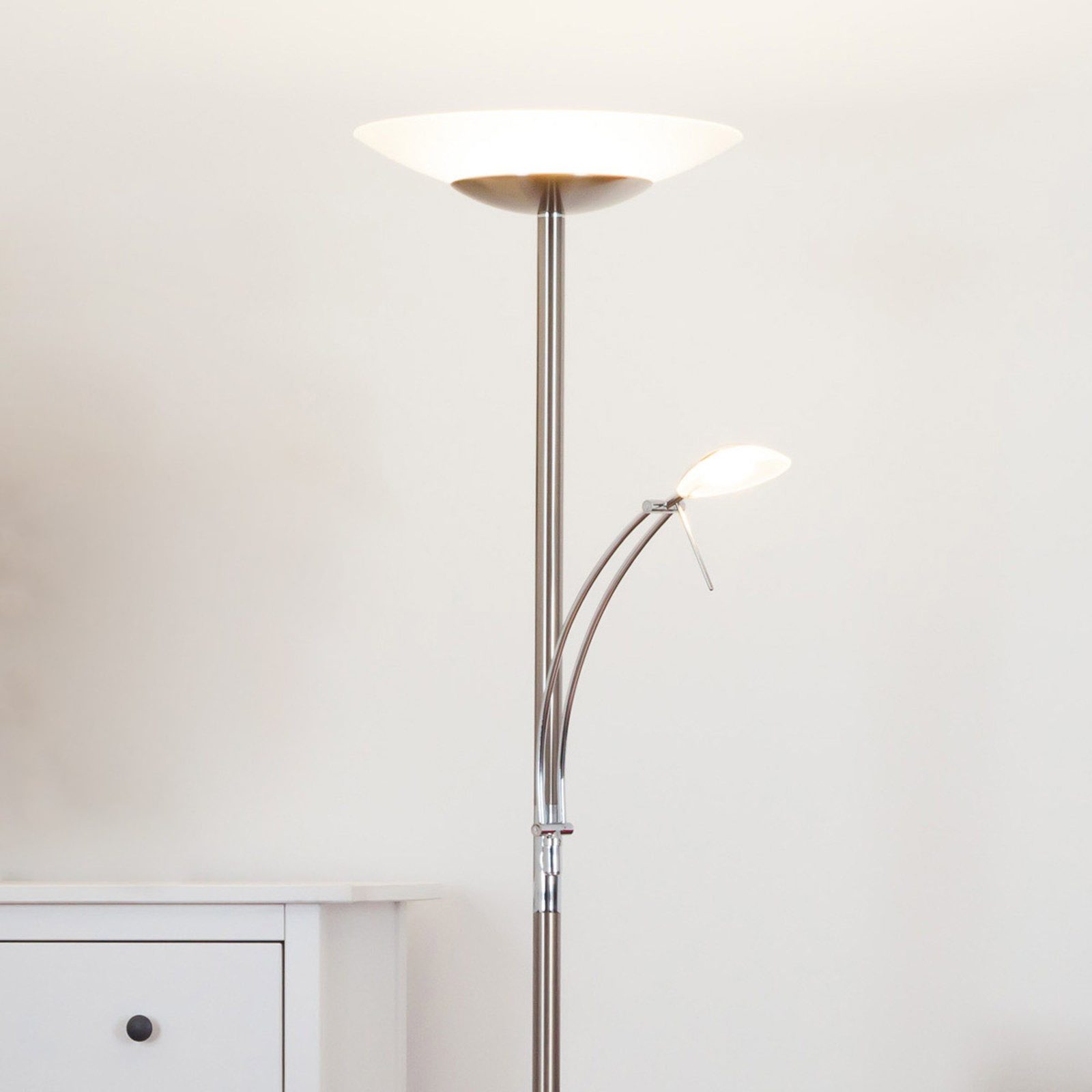 Ilinca - lampadaire LED indirect dimmable et lampe
