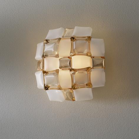 Slamp Mida aplique, 32x32 cm, dorado/blanco