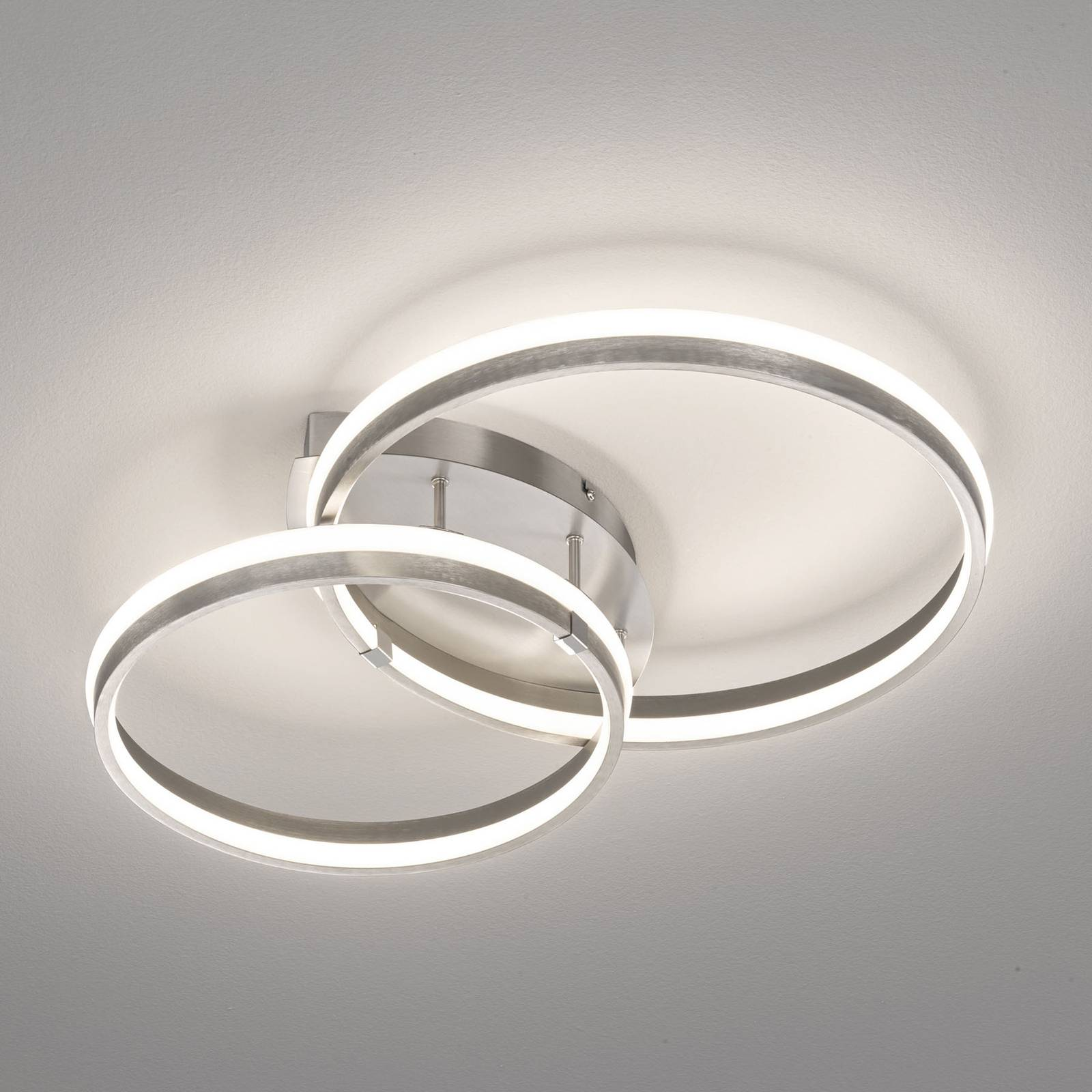 Lampa sufitowa LED Nomade, ściemniana kolory niklu