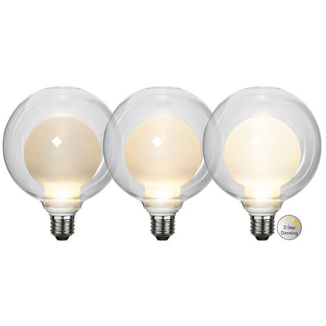 LED žárovka Space E27 3,5W D125, opál, 3-step dim