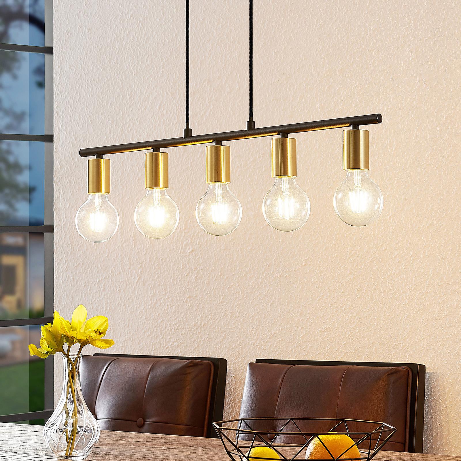 Lindby Peppina suspension salle à manger, 5 lampes