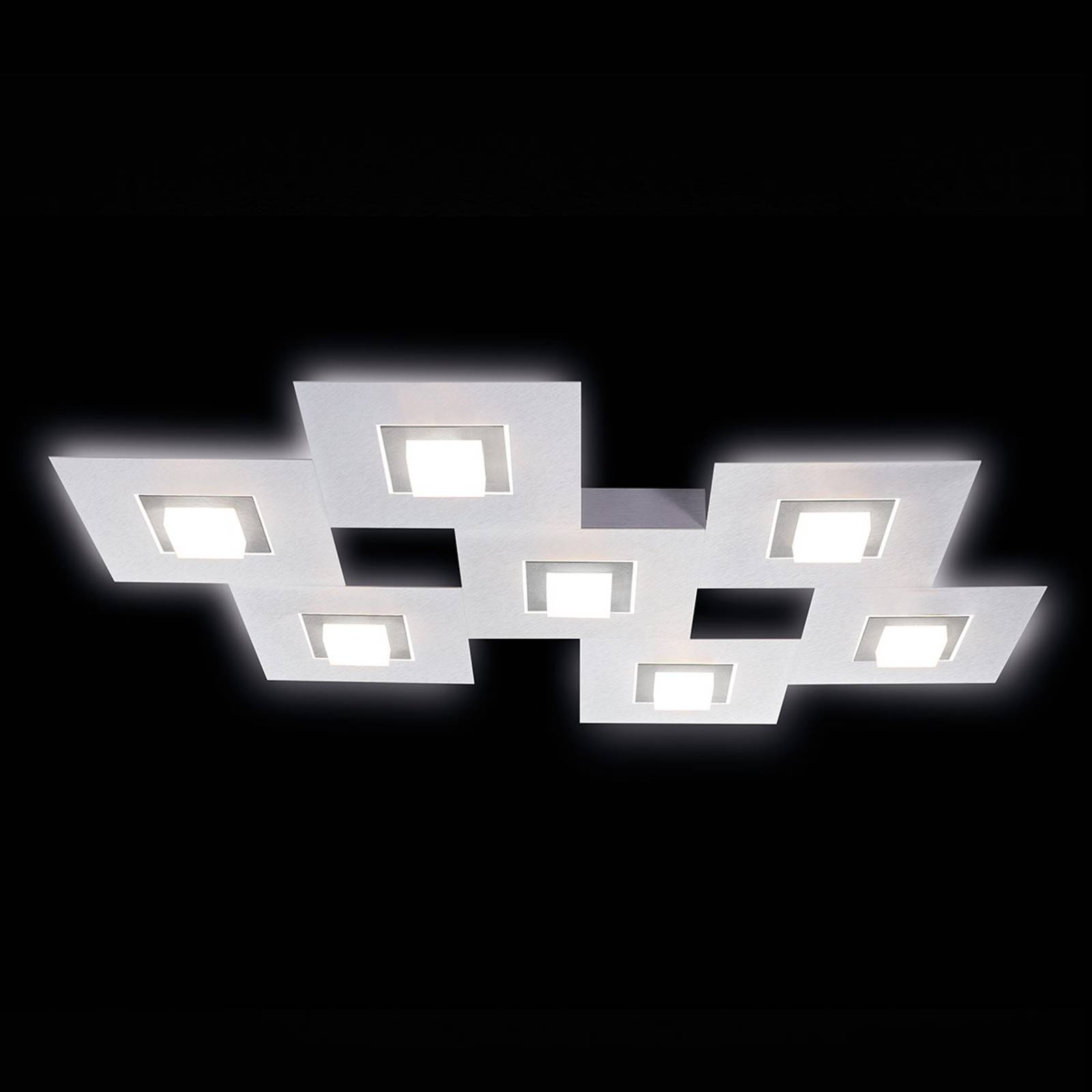 GROSSMANN Karree plafoniera LED a 7 luci, titanio
