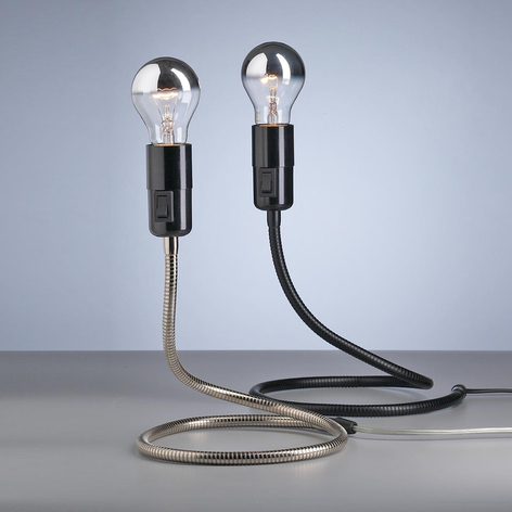 Tecnolumen Lightworm bordlampe af Walter Schnepel
