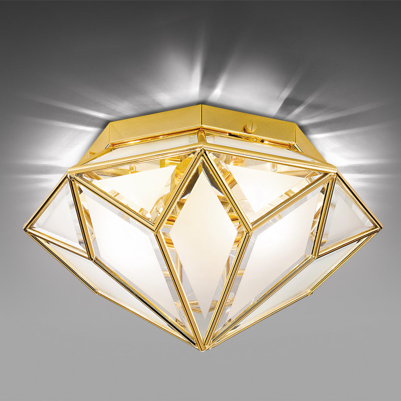 Lámpara de techo Oro, 2 luces