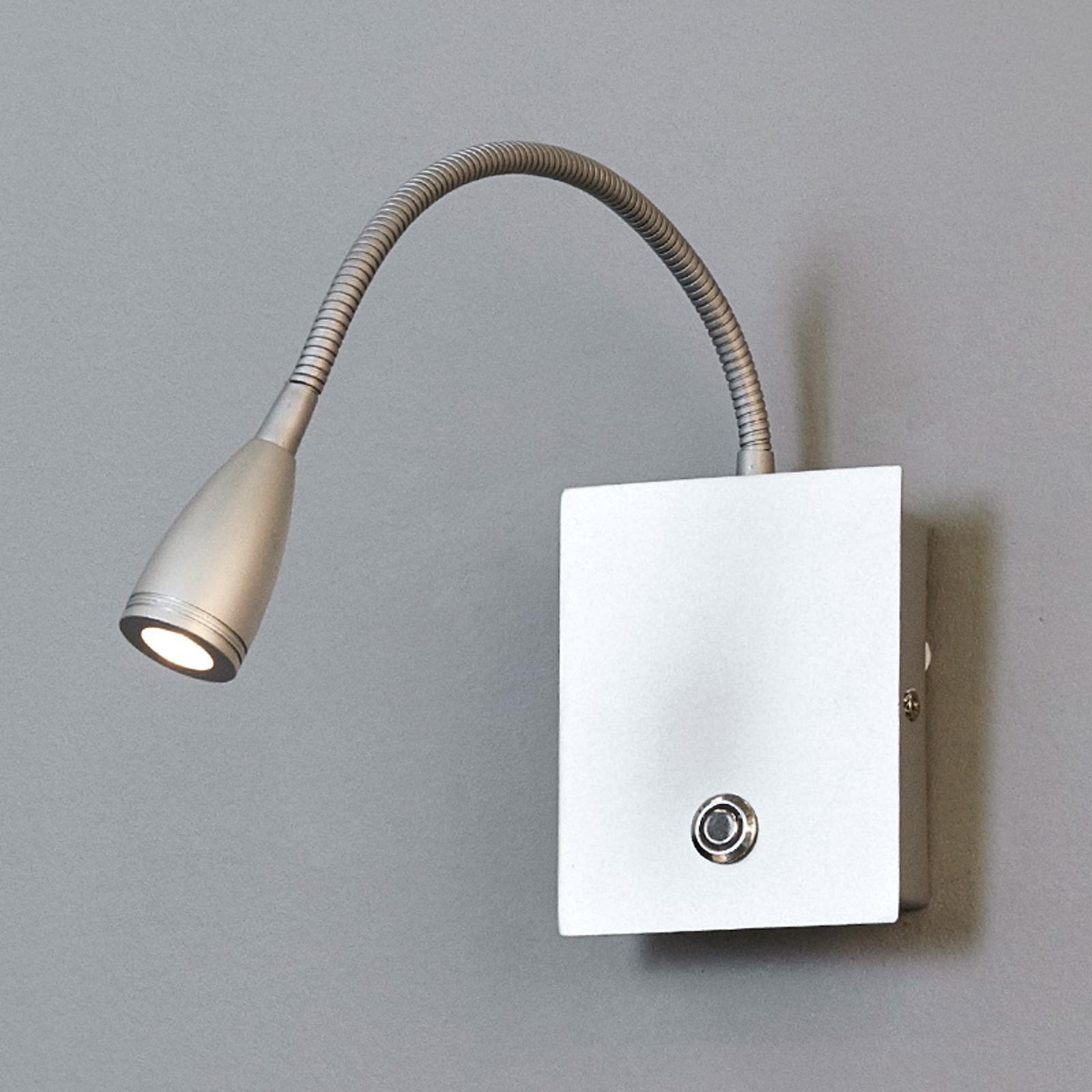Applique LED Torin, argenté, intensité variable
