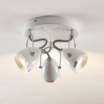 Lindby Jadon plafón LED blanco de 3 luces 26,3 cm