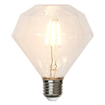 E27 3,2 W 827 LED-lamppu, timantinmuot, 13,2 cm