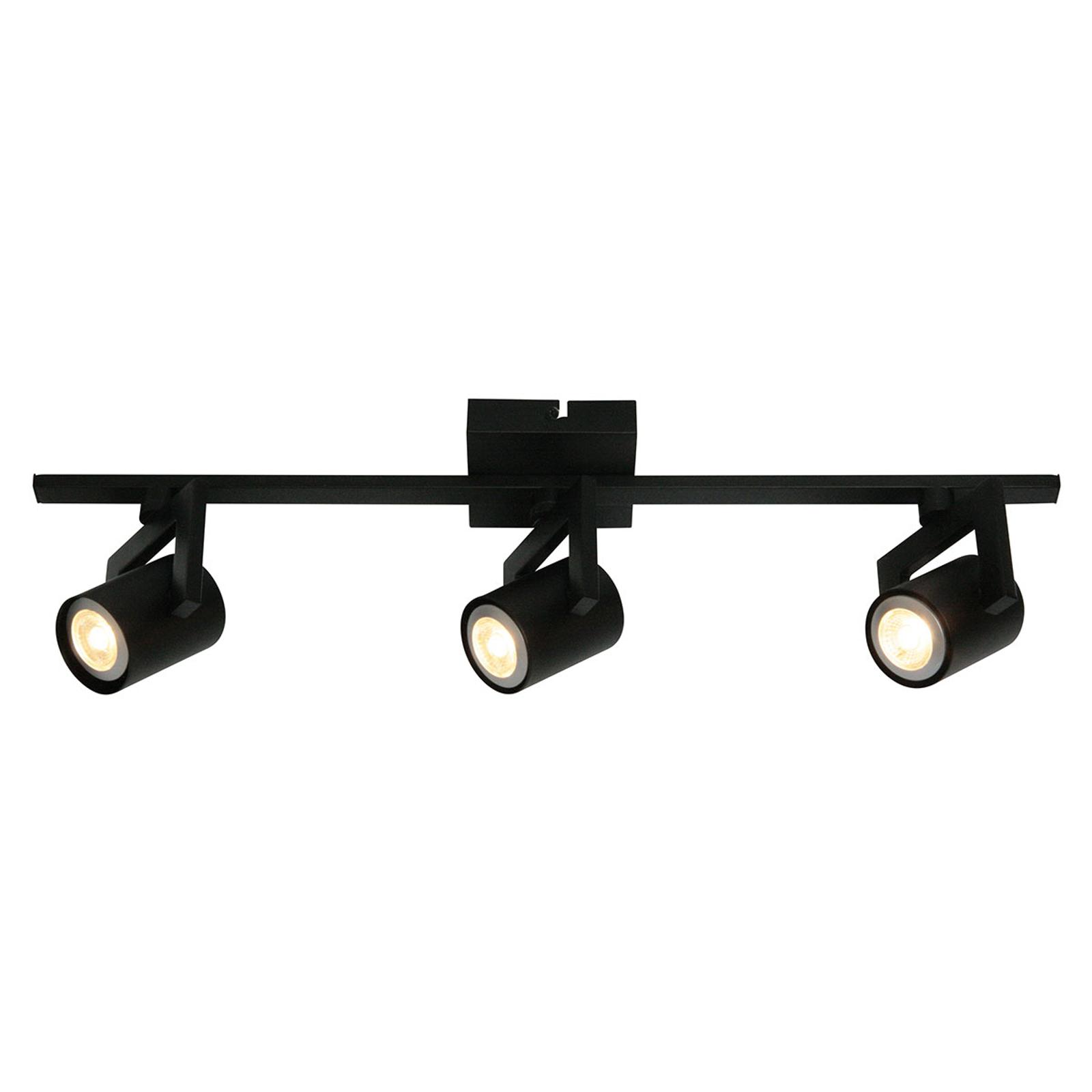 Freelight Moderní stropní světlo ValvoLED, černá, 3 zdroj