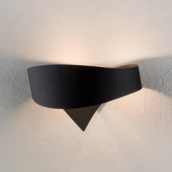 Musta designer-seinävalaisin Scudo