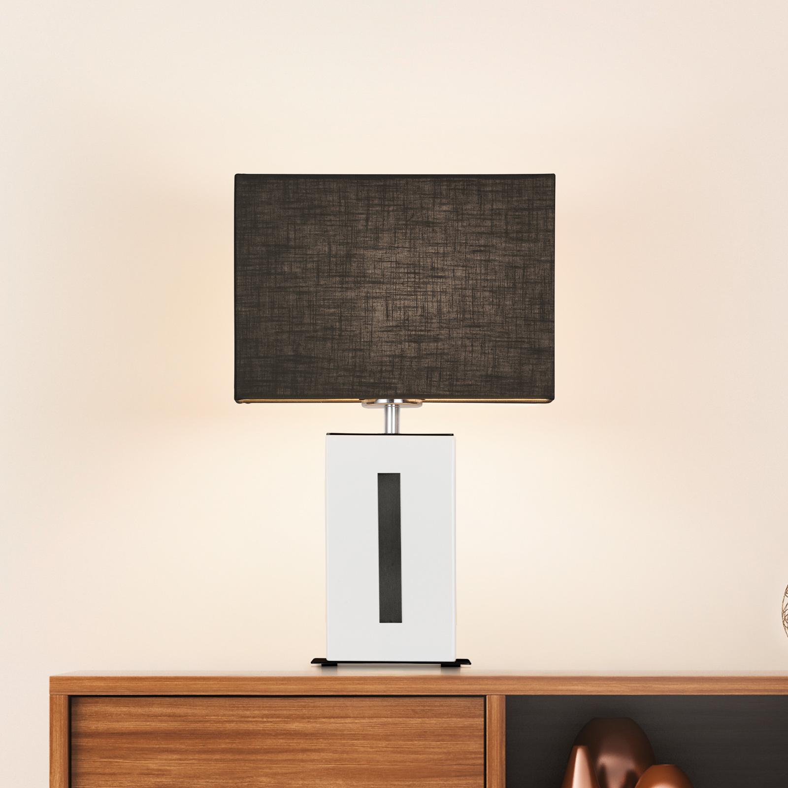 BANKAMP Karlo lampa stołowa biała/czarna, 47cm