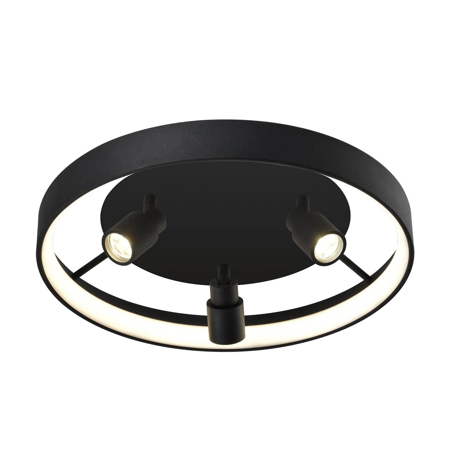 LED-Deckenleuchte Denis, kreisförmig mit 3 Spots