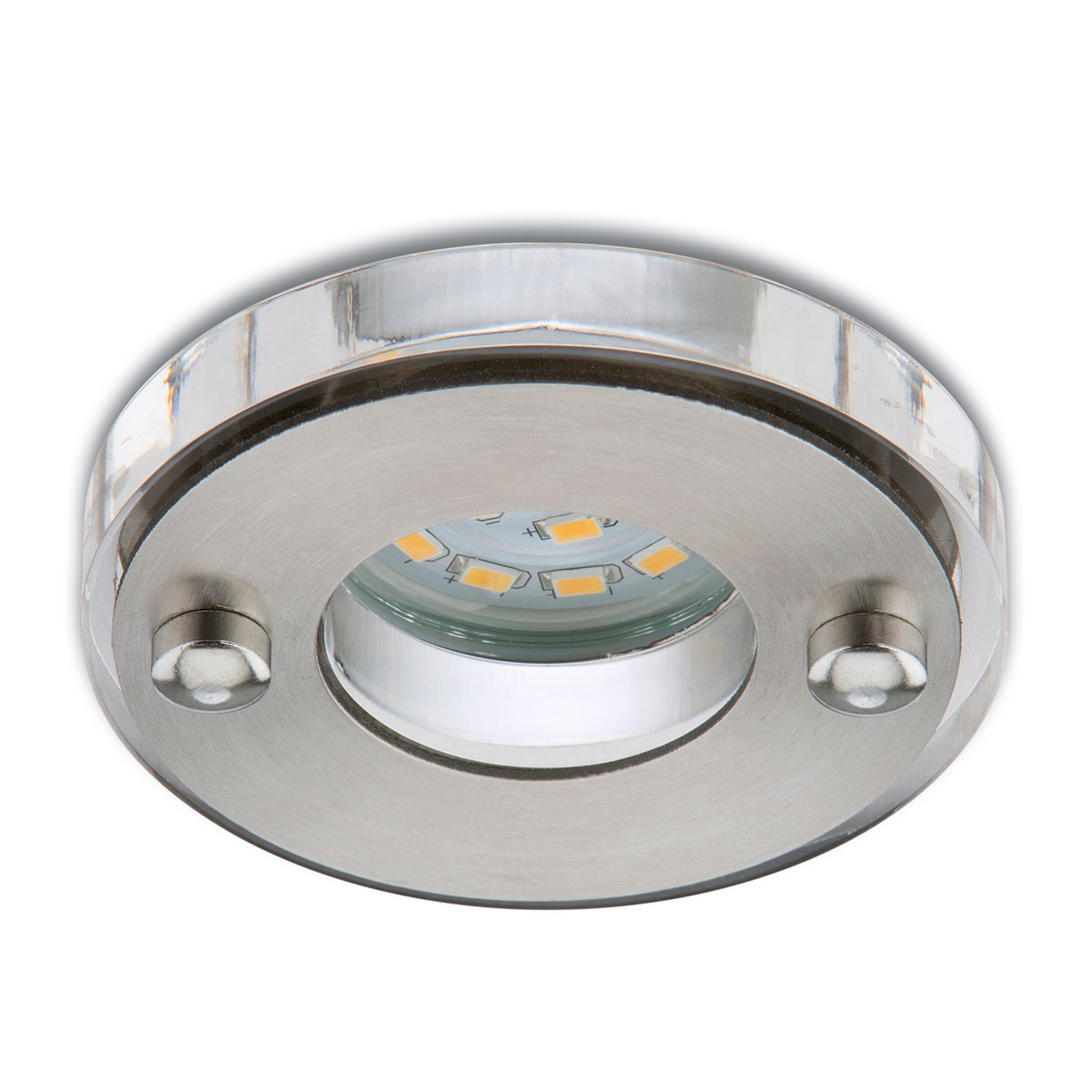 Faretto LED incasso Nikas IP23 nichel satinato