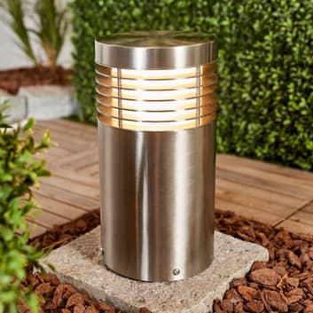 Sokkellampe Tomita, rustfritt stål V2A
