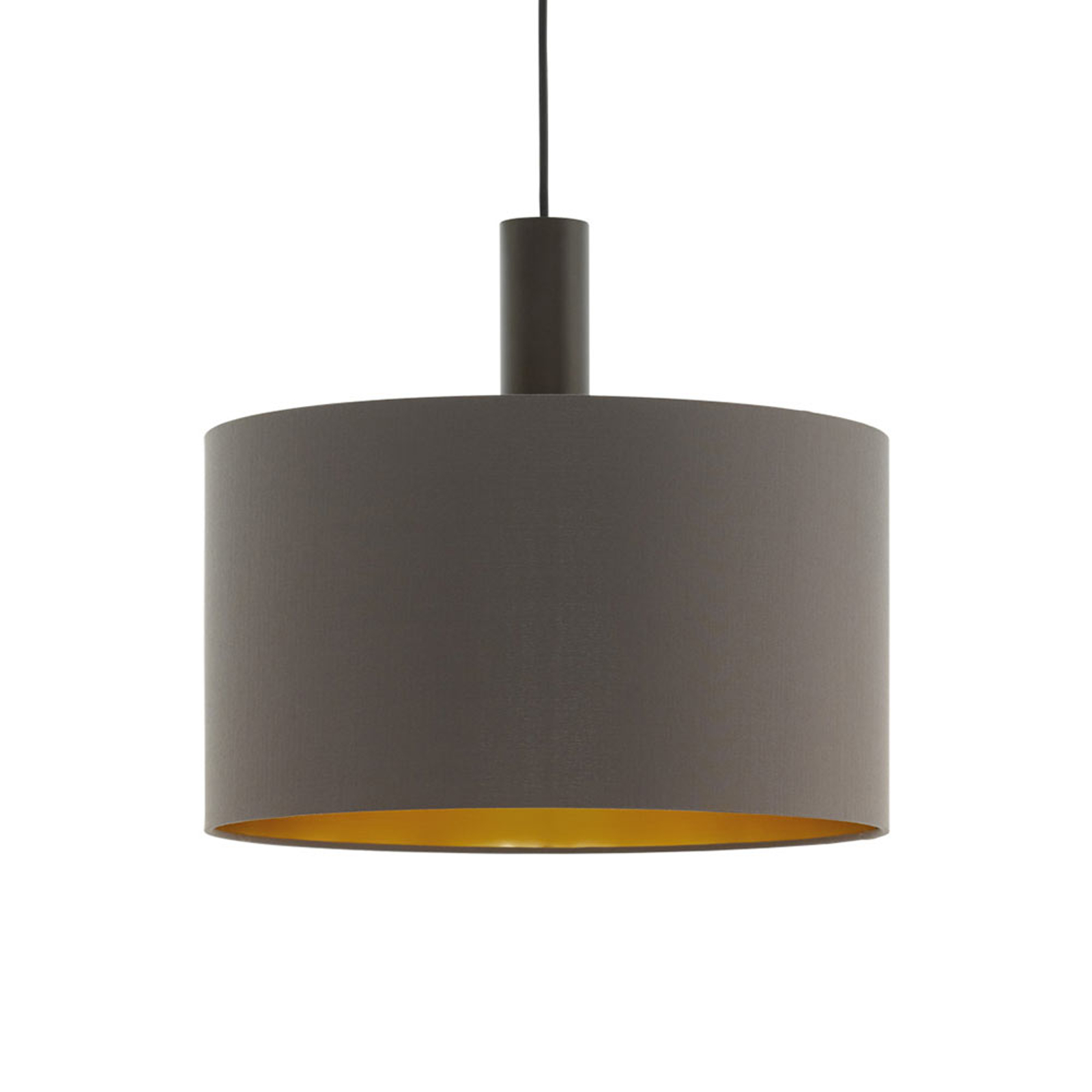 Lampa wisząca Concessa cappuccino/złoty Ø 38 cm