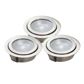 LUXA nedfelt LED-lampe sett med tre lys