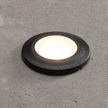 Lampe encastrée LED Aldo ronde noire/transp 3000K