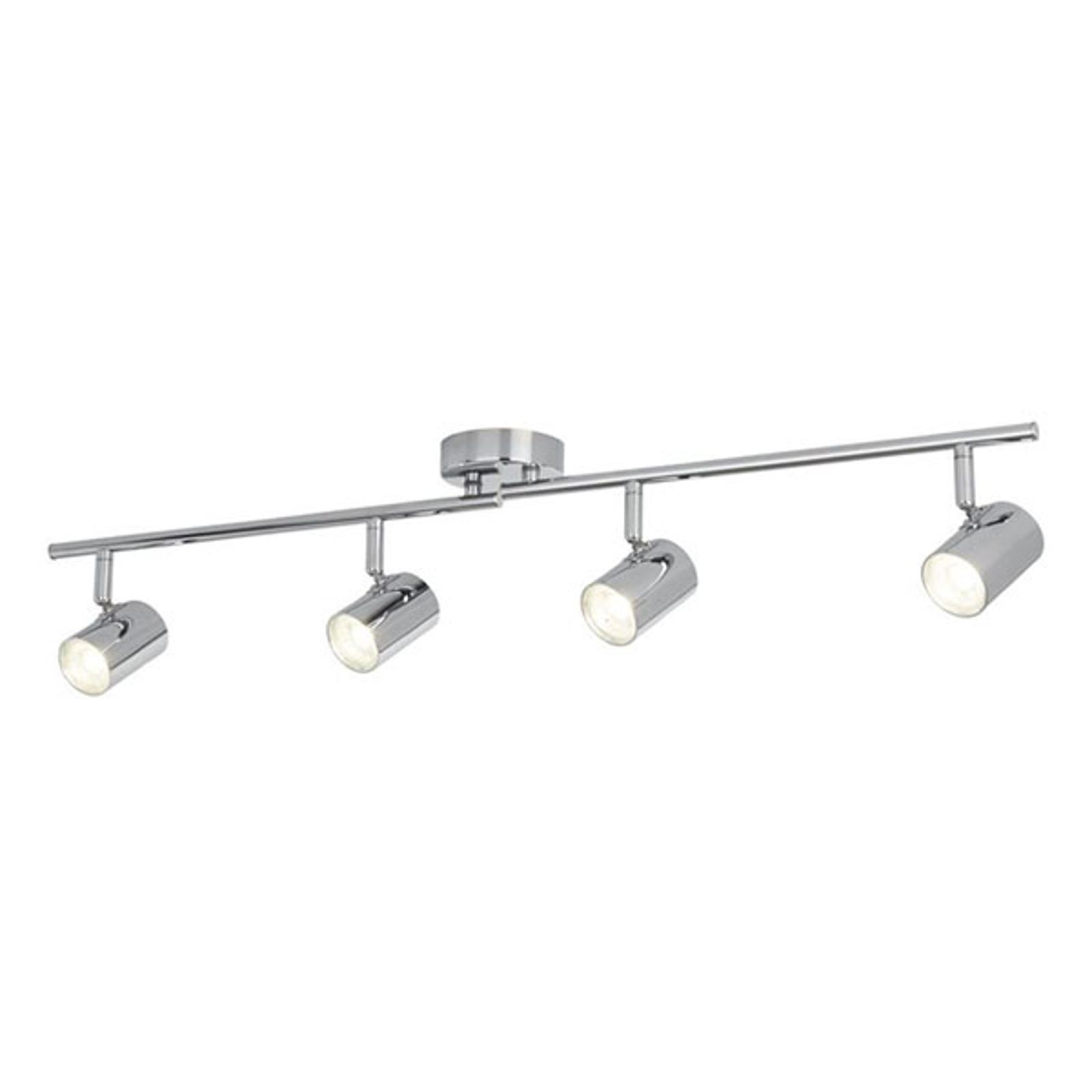 LED-Deckenstrahler Rollo, vierflammig, chrom