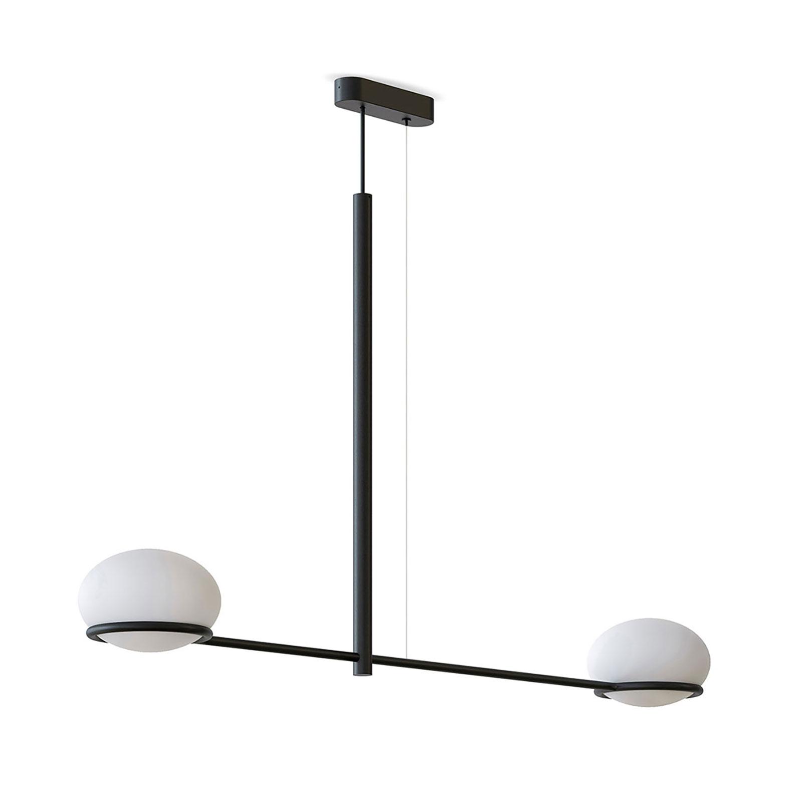 LEDS-C4 Coco Double Hängeleuchte, schwarz/weiß