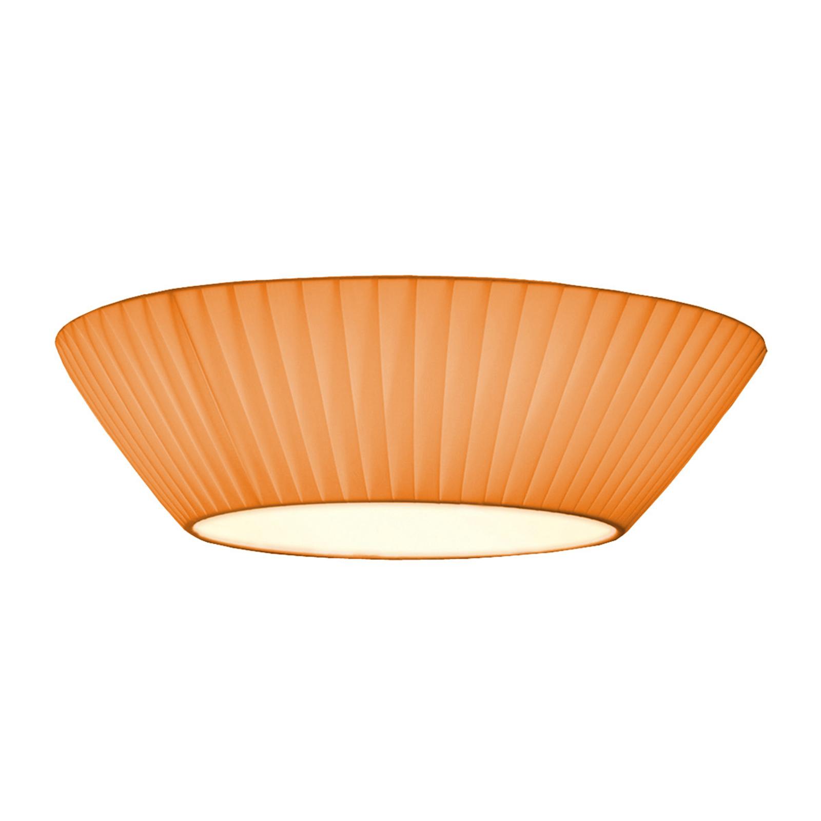 Prosta lampa sufitowa Emma, śr. 50 cm pomarańczowa