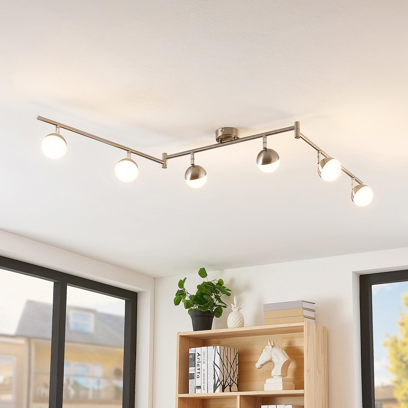 Lindby Lientje LED-taklampa, 6 lampor