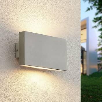 Prios Ploski aplique, 2 luces, 18cm acero