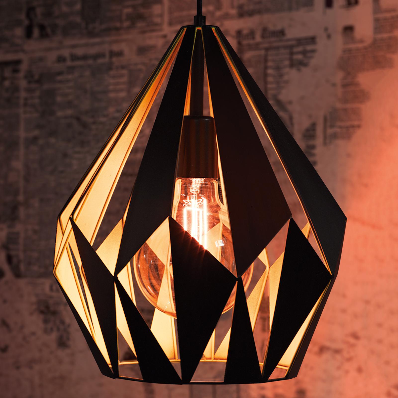 Hanglamp Carlton zwart-geel