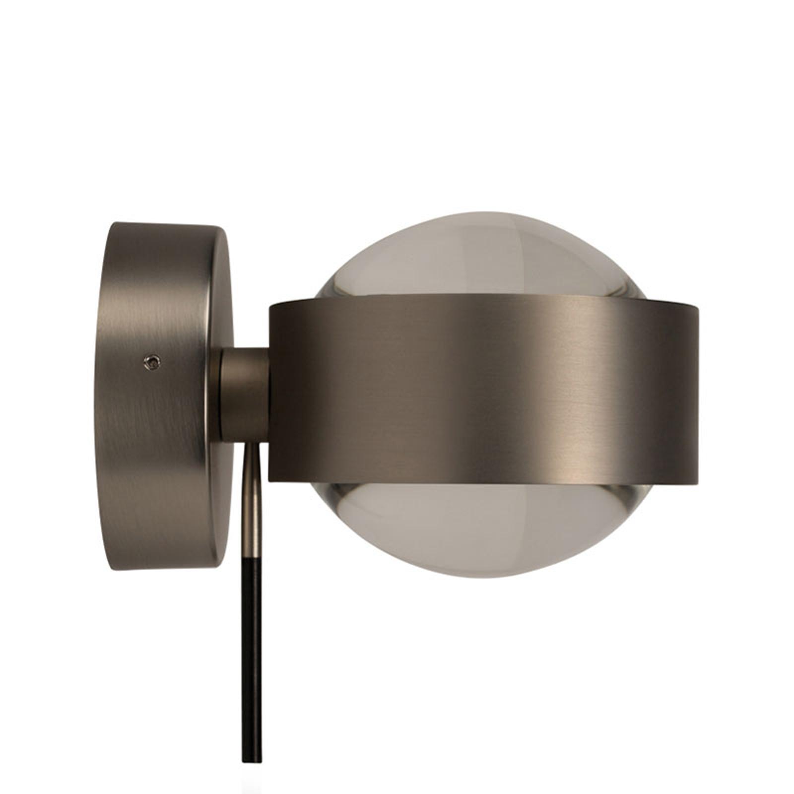 LED-vegglampe Puk Wall+ i moderne metallstil