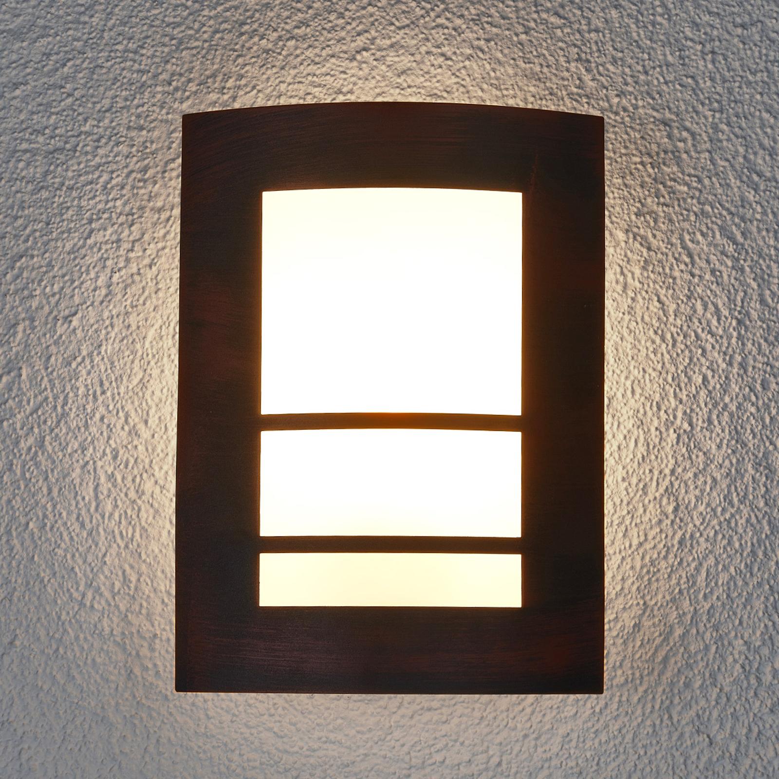 Lampada Katalea, ruggine, da parete, per esterni