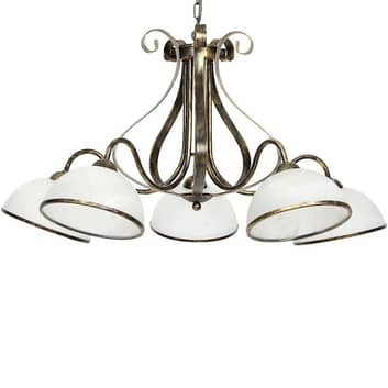 Lampa wisząca Antica w stylu wiejskim, 5-punktowa