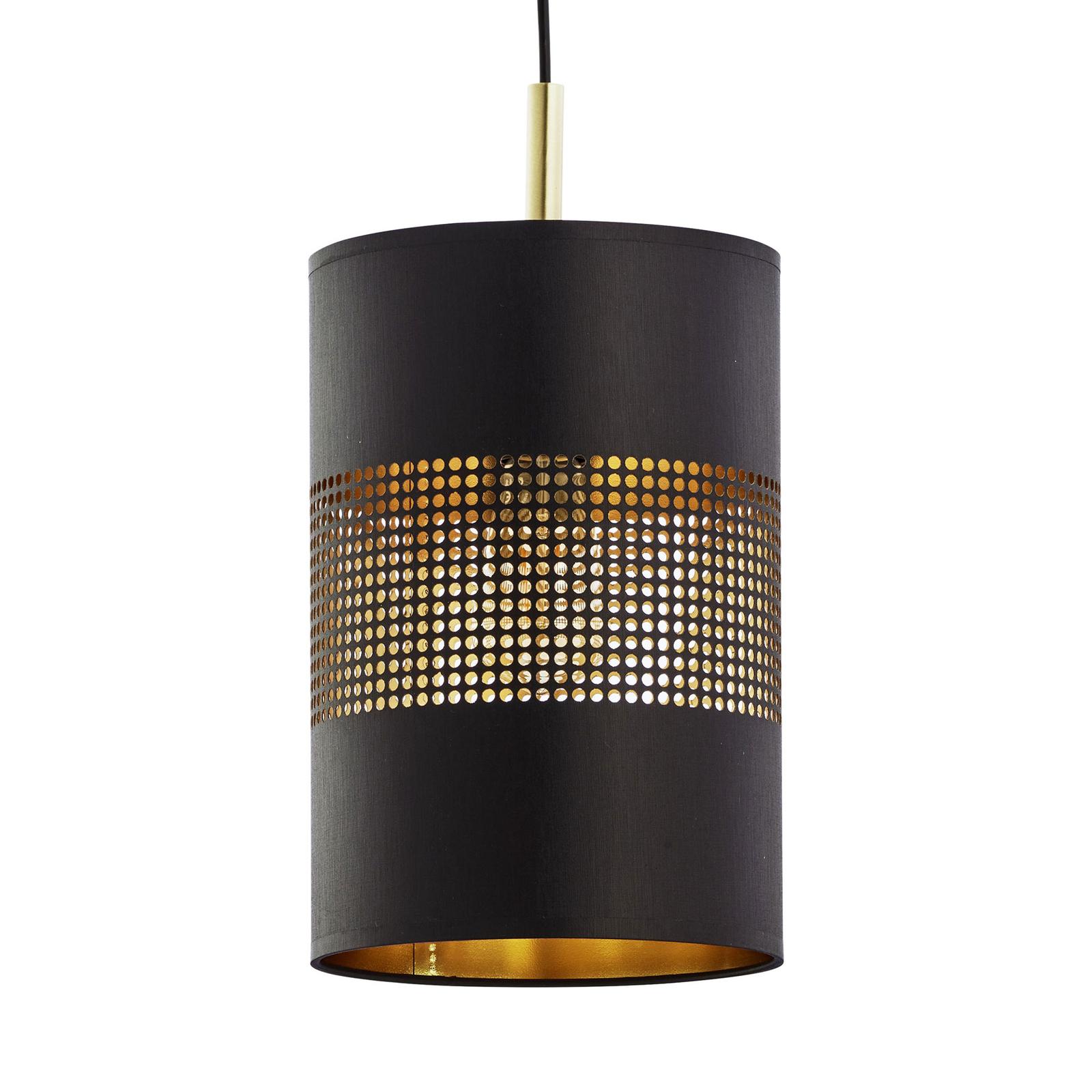 Suspension Bogart à une lampe, noire/dorée