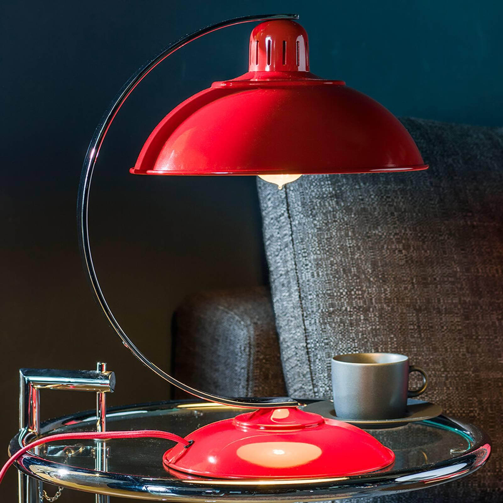 In frischem Rot - Tischleuchte Franklin