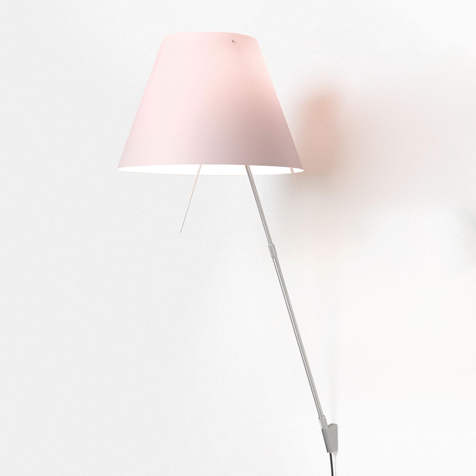 Luceplan Costanza da terra D13a, alluminio/rosa
