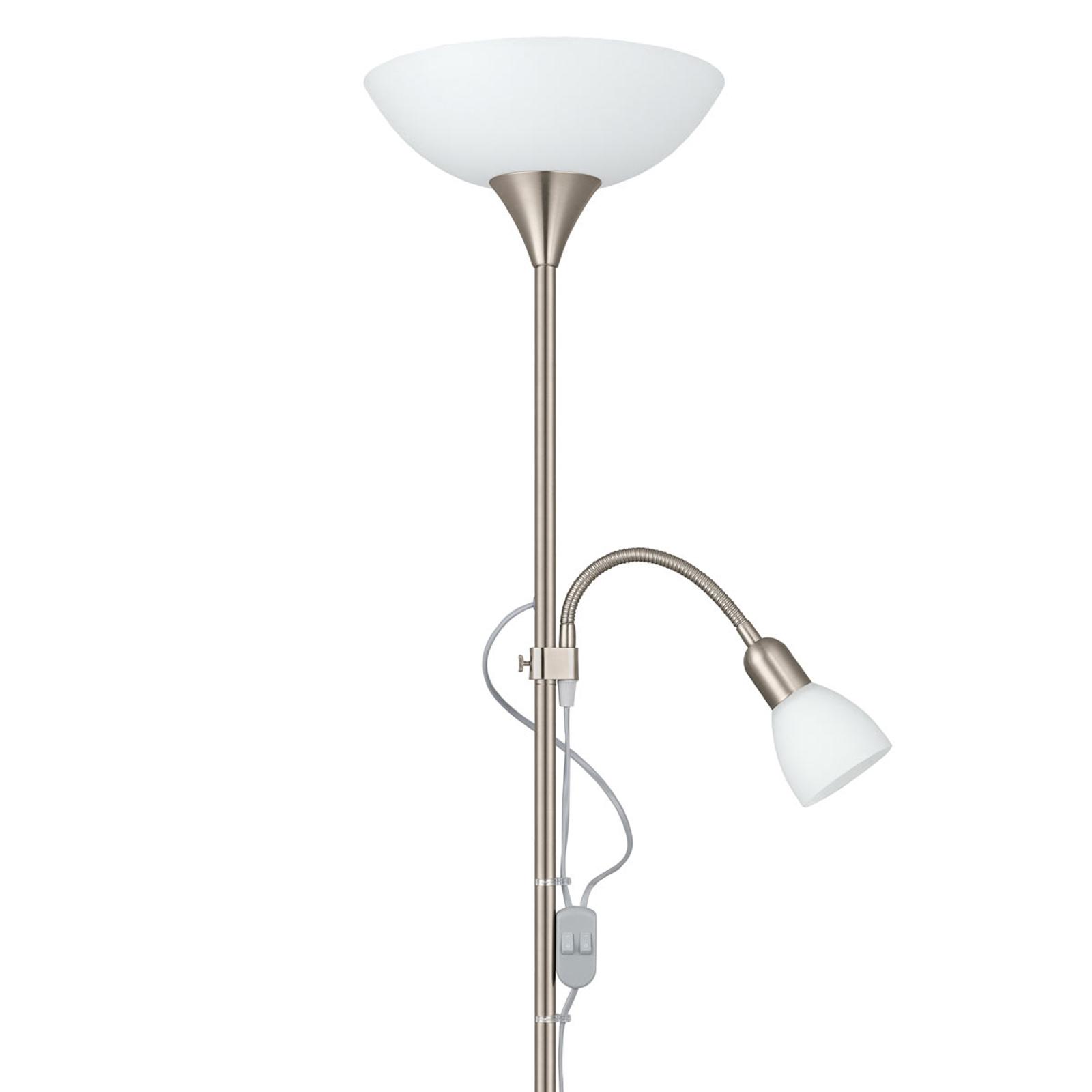Lámpara de pie estable UP 2 con luz de lectura
