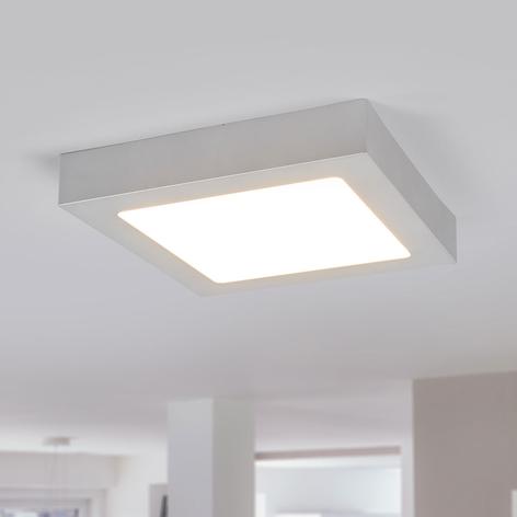 LED plafondlamp Marlo zilver 3000K hoekig 23,1cm