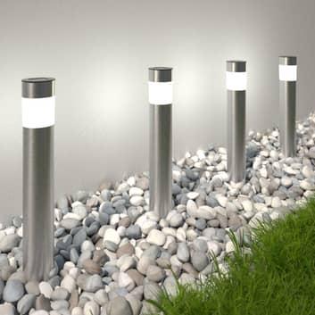 Solarbetriebene LED-Sockelleuchte Reija im 4er-Set