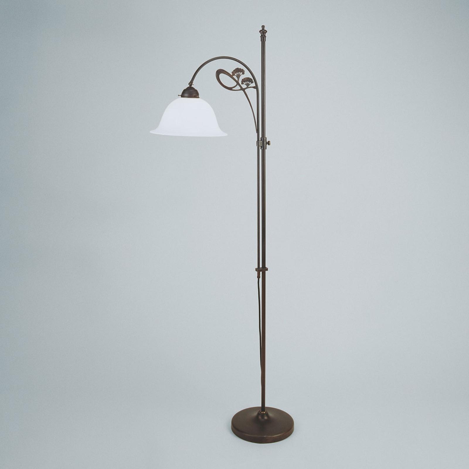 Discreta lámpara de pie Ilka, colores antiguos