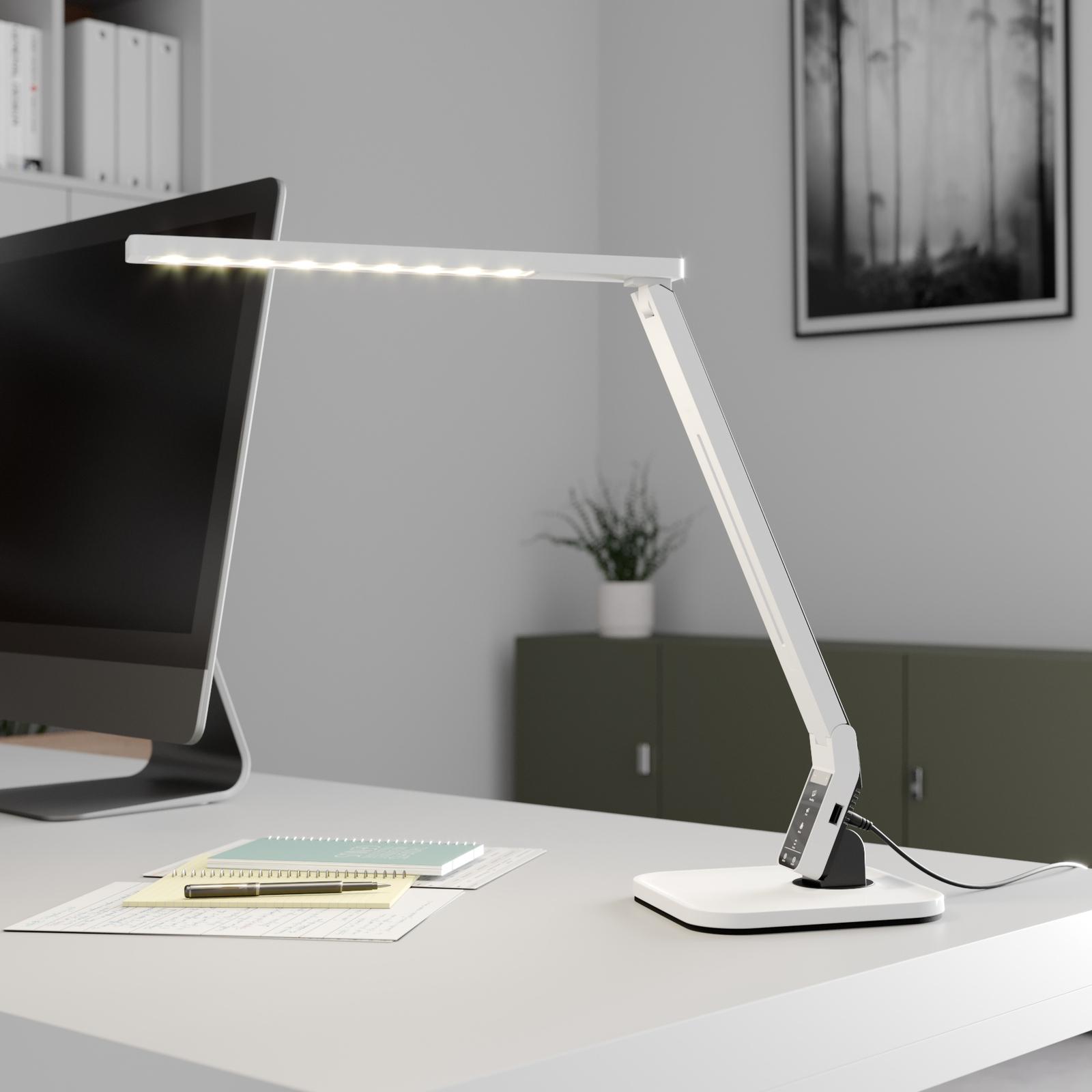 Arcchio Lianel lampka biurkowa LED, biała