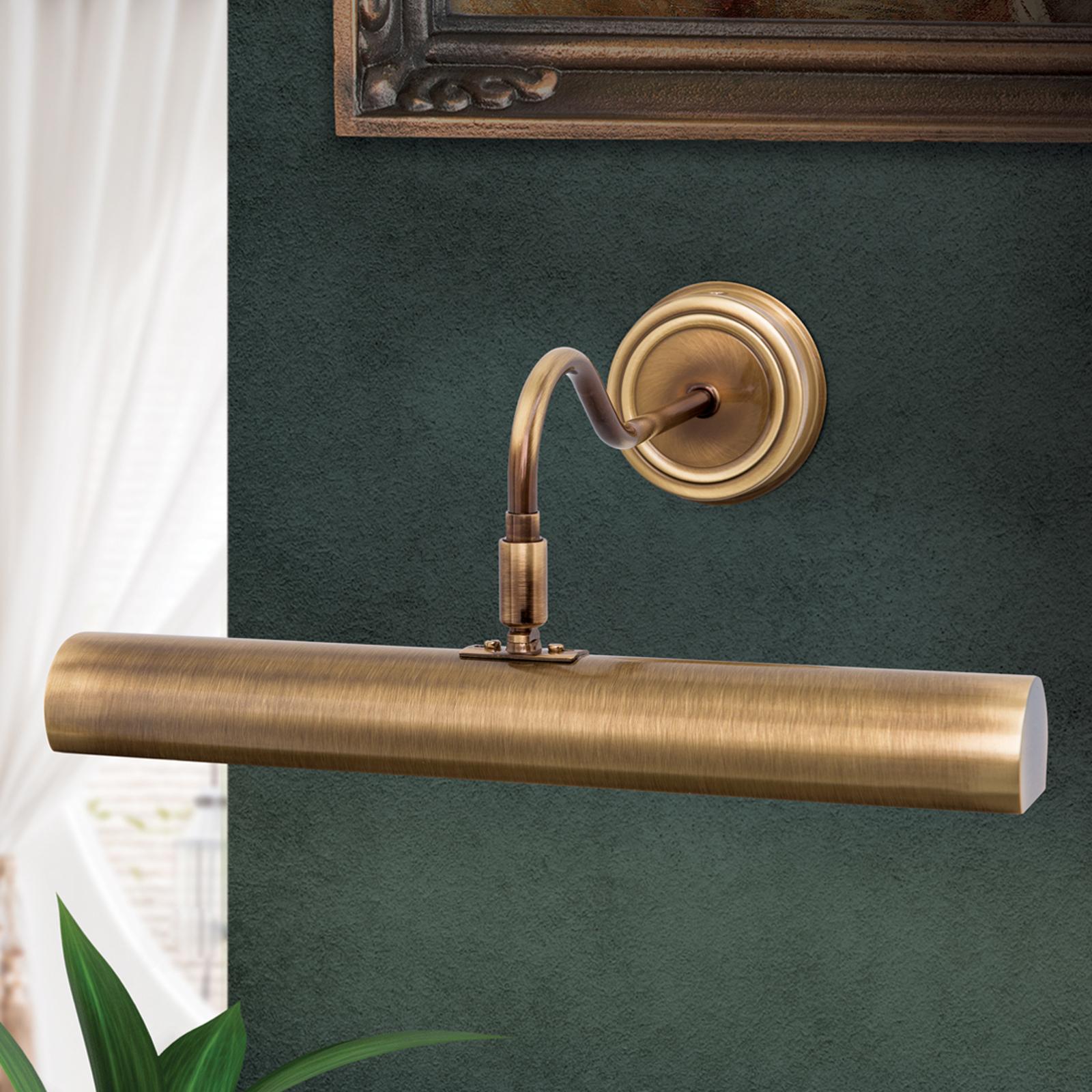 Lampada per quadri Lariga ottone antico 35 cm