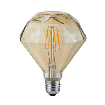 Lampa LED E27 4W 2700K diament filament bursztyn
