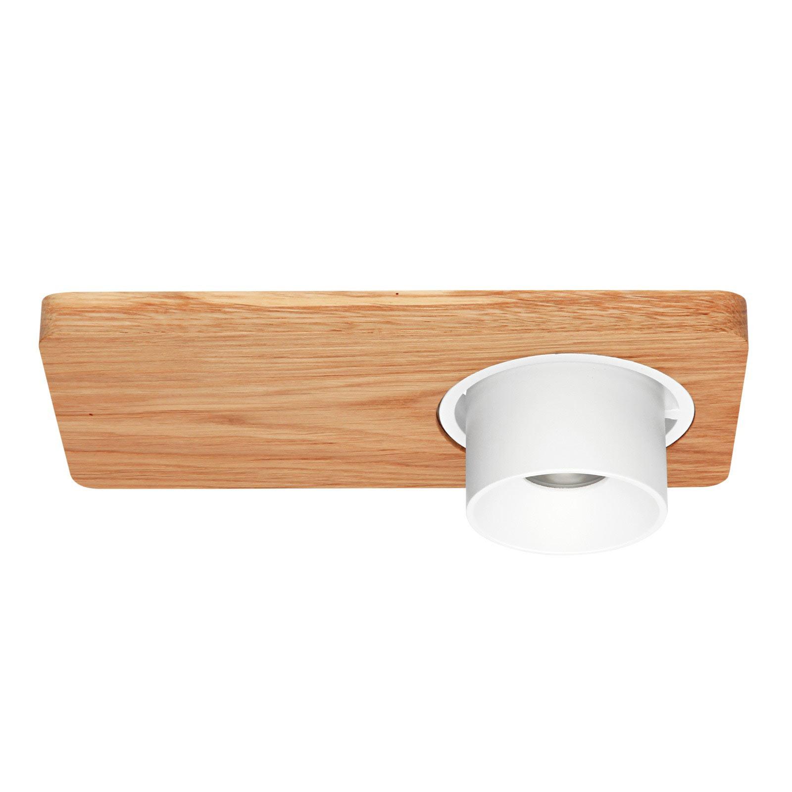 LED plafondlamp Beebo S, eiken licht