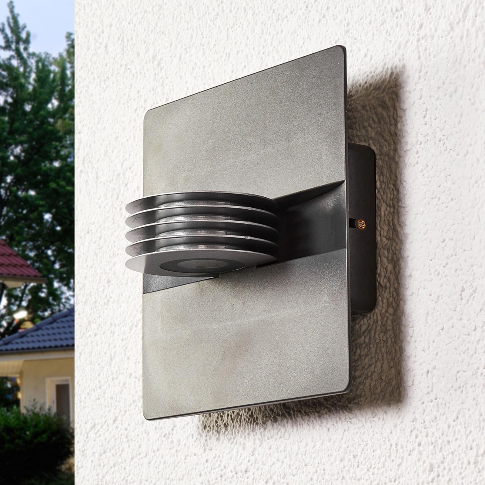Antracietkleurige LED outdoor wandlamp Split