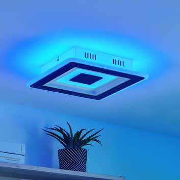 Lindby Evanio plafonnier LED, Smart, CCT, RVB